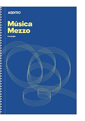 Additio m10 - quaderno di musica, mezzo, colore blu