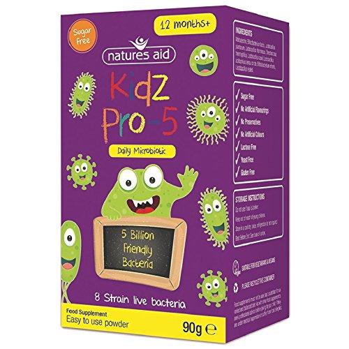 Aid-pulver (Natures Aid 90 g Kidz Pro-5 Täglich Mikrobiotischen)