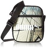 Puma Umhängetasche Campus Portable, Black/Bridge Graphic, 19.5 x 7.6 x 21 cm, 1.5 Liter, 074164 01