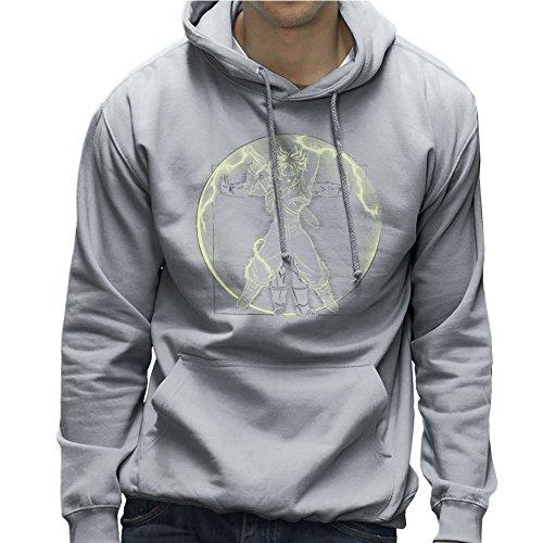 Vitruvian Saiyan Trunks Dragon Ball Z Men's Hooded Sweatshirt