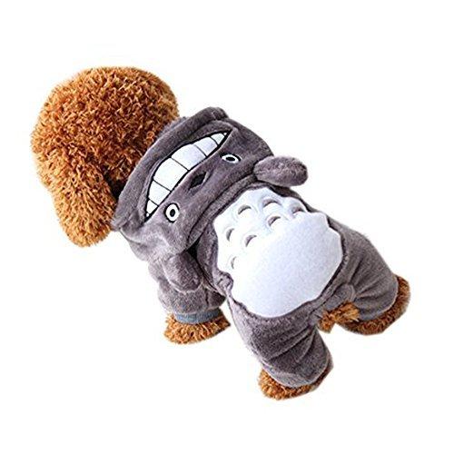 e Kostüm Cartoon-Muster Winter Haustier Kleidung für kleine Hunde … (M, Gray) (Hunde Im Halloween-kostüm)