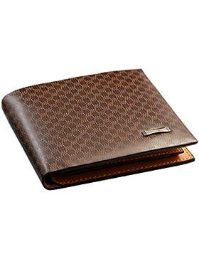 Carpeta de cuero de la PU de Brown de la alta calidad de Ceeva con el sostenedor de la tarjeta de crédito, monedero