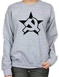 USSR Soviet Russia Hammer And Sickle Communist Star Womens Sweatshirt