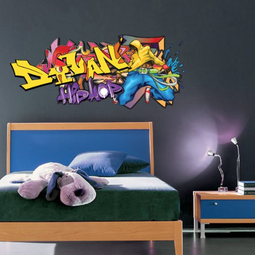 Sticker Tag Hip Hop personnalisable 150x64 cm