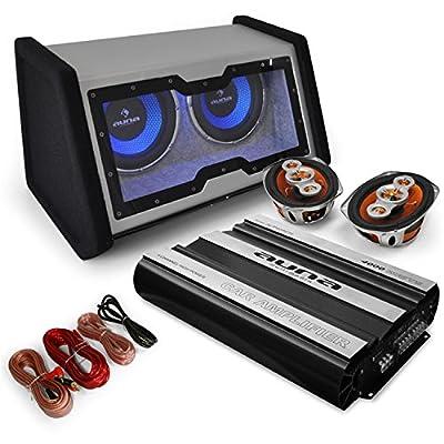 4000W Car Hifi Set BassTast 2.1 (2x30cm Double Subwoofer, 4-Wege Koaxial Boxen, Hifi Verstärker) von Elektronik Star bei Reifen Onlineshop