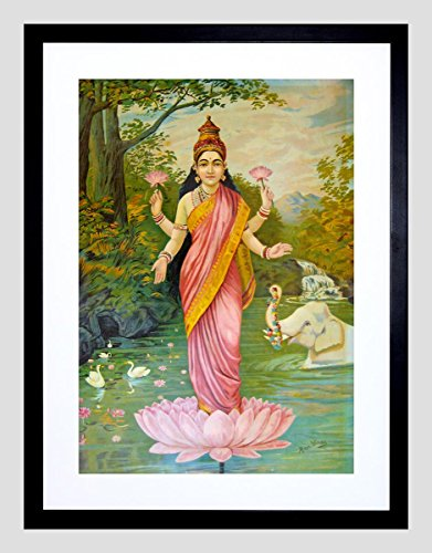 painting-varma-goddess-lakshmi-framed-art-print-12x16-f12x10922