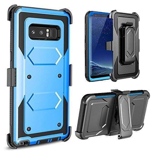 Galaxy Note 8Fall, Samsung Galaxy Note 8Case, jwest Ganzkörper-Rugged Belt Clip Holster Schutzhülle mit Ständer Ohne integrierten Displayschutzfolie, 316-Blue (Galaxy Samsung Virgin Mobile Note)