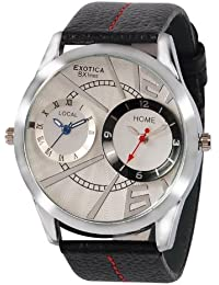 Exotica White Dial Analogue Watch for Men (EF-85-Dual-White)