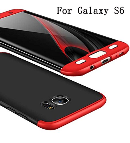 Adamark Galaxy S6/S6 Edge Case Cover 360 Degree Protection 3 in 1 Slim Shockproof Full Body Coverage Protective Case Samsung Galaxy S6/S6 Edge