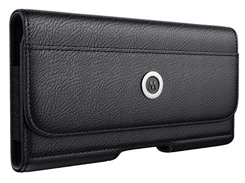 Iphone Horizontal Fall (meilib Horizontal iPhone 6S Plus 7Plus 8Plus Gürteltasche Leder Tasche Fall mit Clip und Schlaufe für Apple Plus Handy-Integriertes Portemonnaie ID Karte Slot (mit Slim Dünn Cover auf) schwarz)
