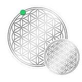 atalantes spirit - Blume des Lebens-Aufkleber-Set S Abriebfest - Farbe: Silber - 3 x 3, 2 x 5 cm - Lebensblume-Sticker - Druck auf Transparenter Folie
