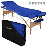 Kinetic Sports MB01 Massageliege Schwarz 3-Zonen inklusive Tragetasche