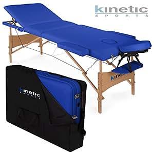 Kinetic Sports MB01 Massageliege Blau 3-Zonen inklusive Tragetasche