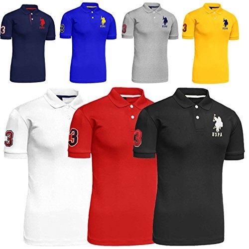 New Mens US Polo ASSN T-Shirt 2017 Design Top Contrast Three Short Sleeve Cotton Tee