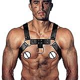 Leder Einstellbare Harness Body Brustgurt - Herren