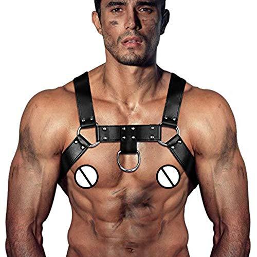 Homelex Männer Sexy Leder Einstellbare Harness Body Brust Brustgurt Hosenträger (LM-002)