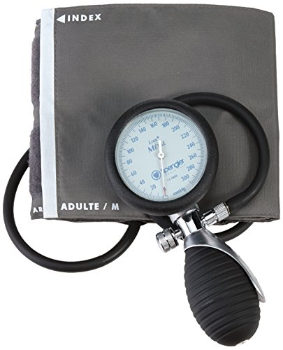 Spengler Lian Blutdruckmessgerät Metall für Erwachsene mit Klettverschluss Manschette Größe Medium, Nylon, grau