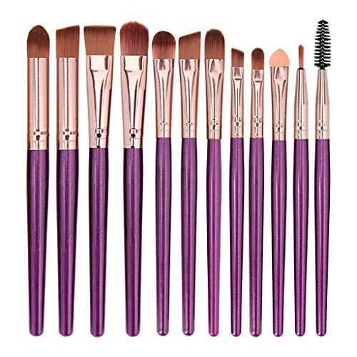 Make Up Pinsel Set 12pcs Professionelles Kosmetikpinsel Schminkpinsel Set Augenpinsel Lidschatten...