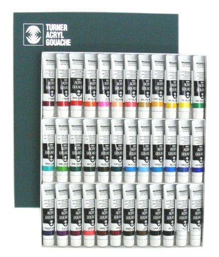 Turner Acrylic Gouache 20ml 36 color set (japan import)