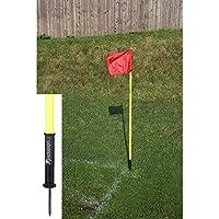 """4x Precision Training """"Sprung córner, color amarillo con 4Rojo Banderas RRP £35"""