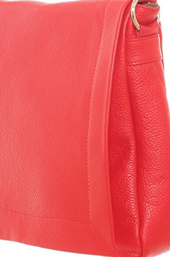 Cartella donna in vera pelle bottalata Rosso