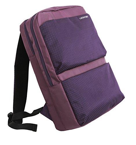 """Preisvergleich Produktbild Düssel Tablet """"Fuji"""" Lila gepunkteter Notebook Rucksack für Kabine/Handgepäck für Easyjet Ryanair bis 43,2cm Laptops 55x 40x 20cm [lila]"""