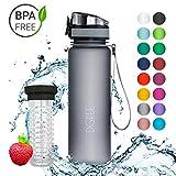 720°DGREE Trinkflasche 'uberBottle' - 500 ml, 0,5 l, Grau   Neuartige Tritan Wasser-Flasche   Water...
