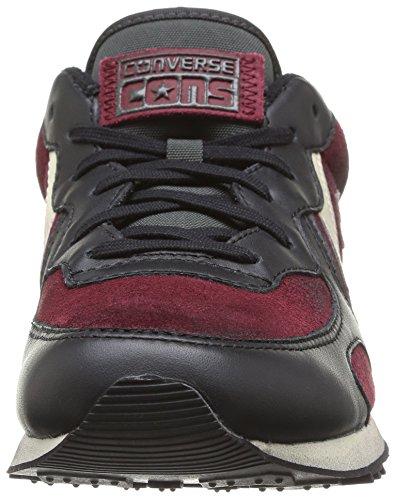 Converse Auckland Racer Ox Suede/Leat, Baskets Basses Homme, Bordeaux Marron / fer / noir
