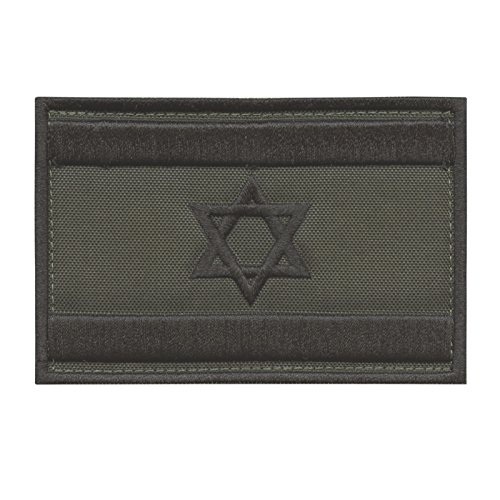 Olive Drab OD Israel Flag IDF Arid Morale Star David Army Embroidery Hook-and-Loop Patch