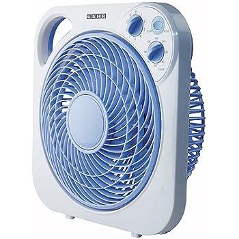 Usha Maxx Air 300mm Box Table Fan (White and Blue)