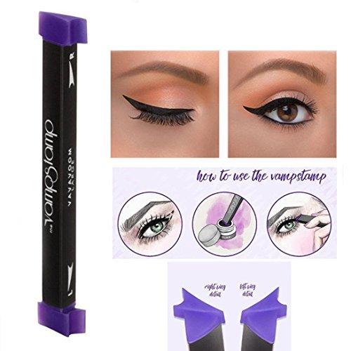 A-goo Dasfach zu Make-up Blatt Stempel Cat Eye Wing Eyeliner Stempel Werkzeug 1Sekunde Make-up Kit, M