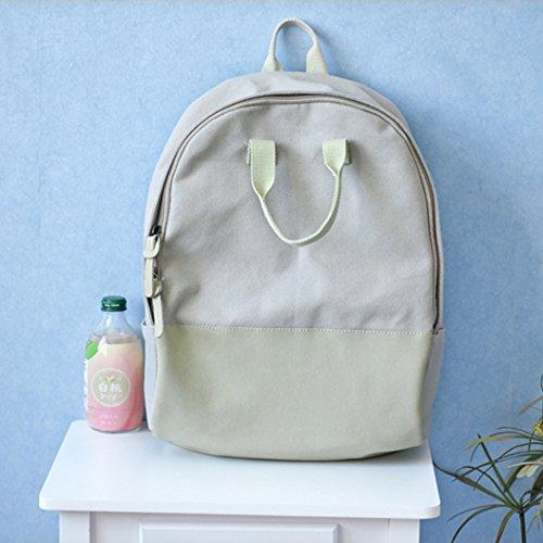 BAGEHUA ragazze piccole e fresche zaino borsa di tela studente borsa borsa da viaggio quattro colori opzionale Rosa gray