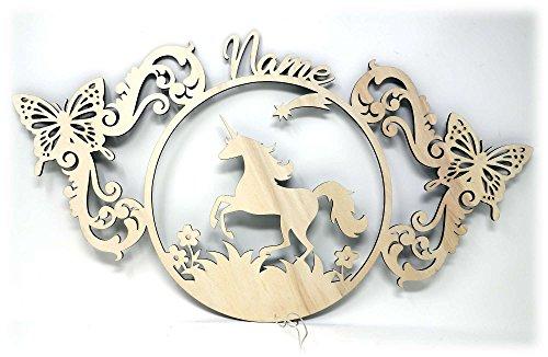 Led Einhorn Schmetterling Geschenke mit Namen für Mädchen Einhörner Kinder Erwachsene Pferdefreunde