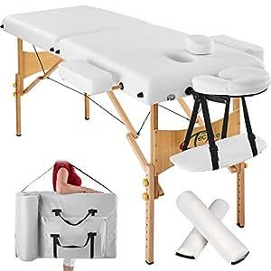 Tectake lettino massaggi 7 5cm imbottitura estetista for Lettino estetista portatile