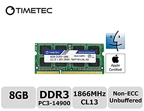Timetec Hynix IC 8GB DDR3 PC3-14900 1866MHz Apple iMac 17,1 w/Retina 5K display (27-inch Late 2015) A1419 (EMC 2834) MK462LL/A, MK472LL/A, MK482LL/A (8GB)