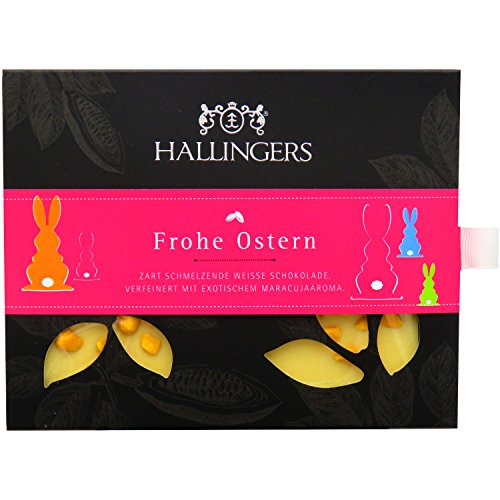 Hallingers Oster-Tafel Frohe Ostern, weiß, Edition 2015, Karton, 1er Pack (1 x 90 g) Ostern-advent-kalender