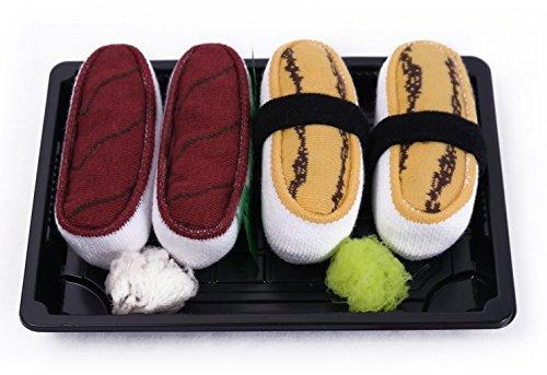 Calcetines del Sushi, 2 pares de calcetines: Atún, Tamago, Traordinario Regalo, Fabricado en EU, ex Tallas EU 36-40, Más alta Calidad, Idea Original