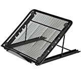 #10: Techtest Six Heights Adjustable Metal Laptop Stand Desktop Folding Portable Notebook Cooling Holder Laptop Stand – Portable Laptop Stand – PC and MacBook Laptop Stand , laptop stands,laptop stand bed,laptop stand for desk,laptop stand for office,laptop stand adjustable height,desktop stand,desktop stand for laptop,desktop stand for office,laptop stand adjustable,laptop stand home,