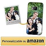 Coverpersonalizzate.it Cover Personalizzata per HTC One M9 / HTC One M9scon la Tua Foto, Immagine o Scritta - Custodia Morbida in TPU Gel Trasparente - Stampa di altissima qualità