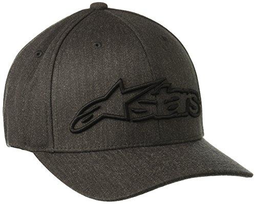 Alpinestars Herren Hat BLAZE FLEXFIT Logo Curved Bill Flex Back, Dk Heather Gray/Black, S/M, 1039-81005