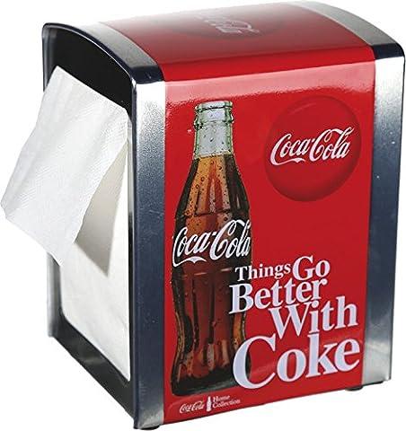 Distributeur de serviettes Coca Cola» Better with Coke «env. 14–10cm + 100serviettes