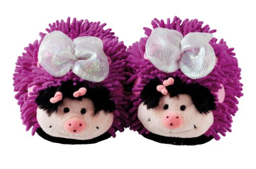 Aroma Home Fuzzy Friends Childrens Slippers - Butterfly