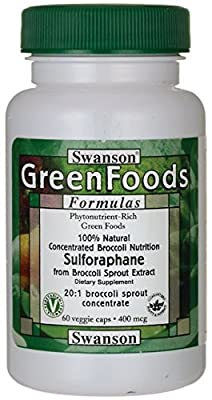 Swanson GreenFoods 100% Natural Sulforaphane from Broccoli from Swanson Health Products