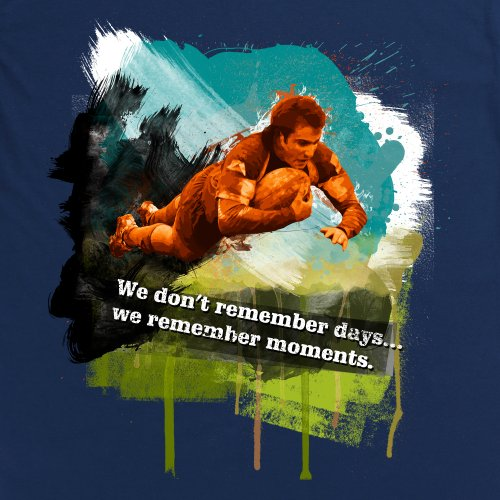 Days vs Moments T-Shirt, Herren Dunkelblau