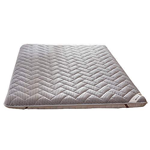 ASDFGH Tradicional Japonés Suelo colchones futon Colchón Tatami, Portátil Colchón Plegable 4 d Respirable Futon colchón 4 Bandas de Anclaje-Gris 120x200cm(47x79inch)