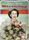 Buon Compleanno della Regina biglietto d'auguri di Max Hernn