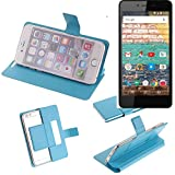 K-S-Trade Flipcover für Archos 50e Neon Schutz Hülle Schutzhülle Flip Cover Handy case Smartphone Handyhülle blau