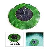 Zantec 1.4W Lotus Shaped Solar Power Brunnenpumpe, 7 V Wasserdichte Solar Wasserpumpe für Hof und Garten