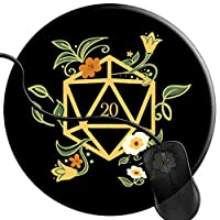 Gaming Mouse Pad Mouse Mat with Non-Slip Rubber Base, Smooth Surface for Laser and Optical Mouse Nerdy Polyhedral Set Plants Succulentsy 2T3361