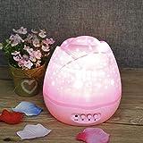 Your global store Lampada per proiettore a Luce Notturna Rotante Lampada per proiezione a LED per Bambini romantici
